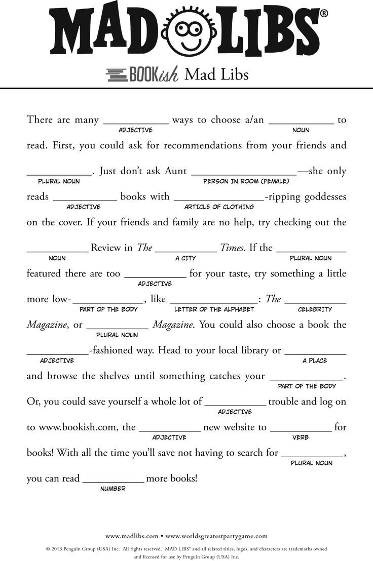 It is a photo of Adaptable Mad Libs Printable