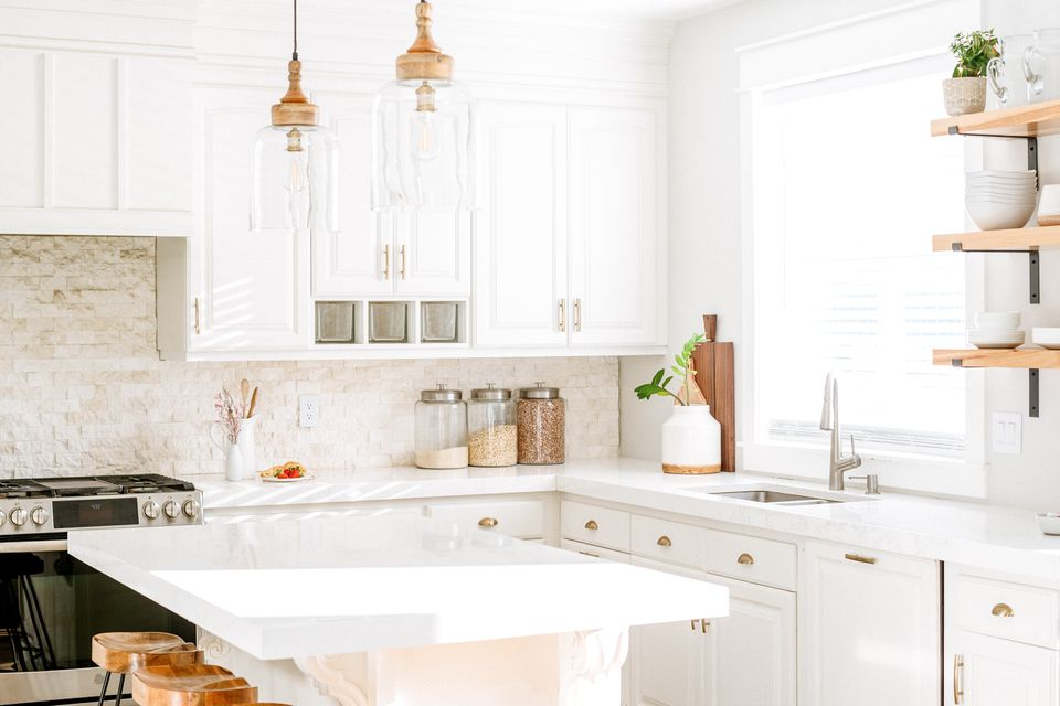 a well-organized kitchen counter