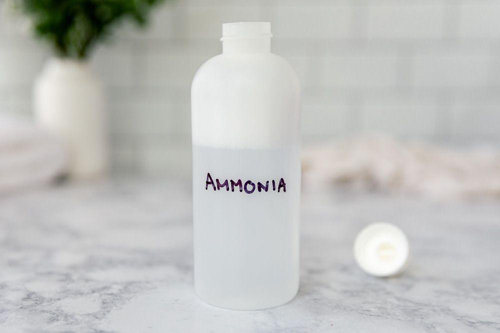 bottle of ammonia
