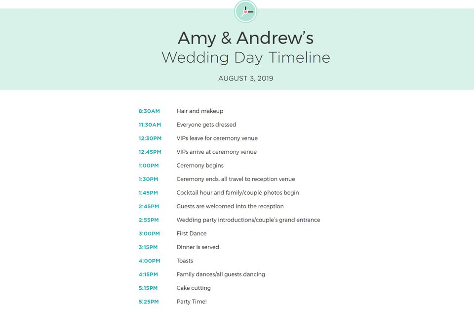 free wedding itinerary templates and timelines. Black Bedroom Furniture Sets. Home Design Ideas