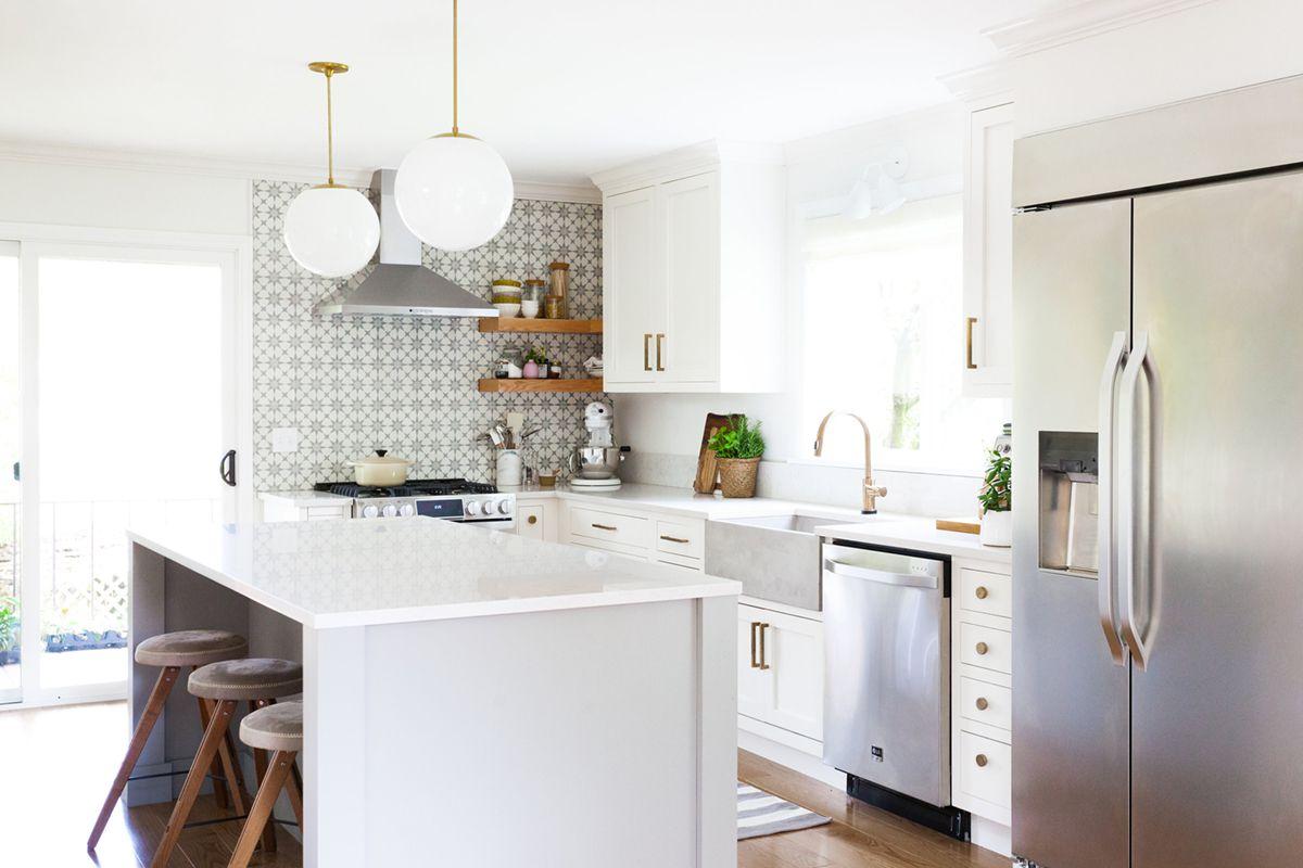 a clean white kitchen