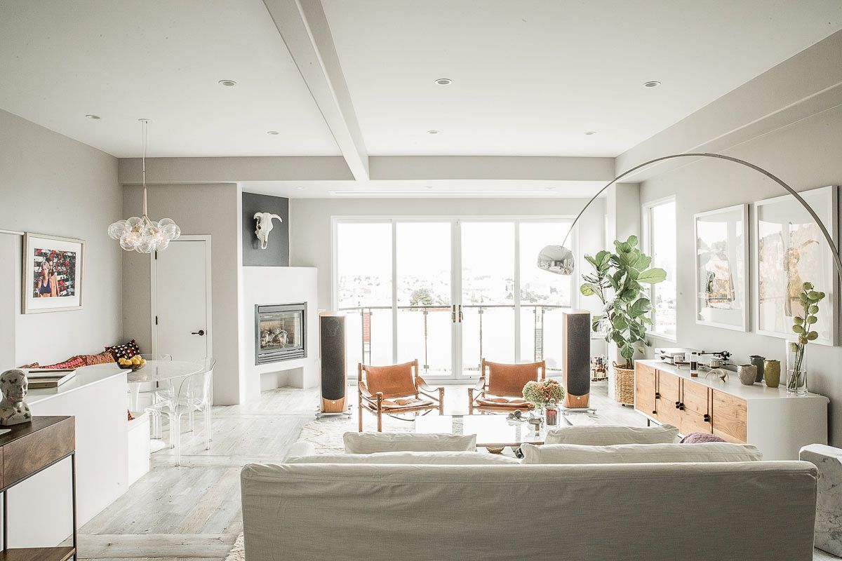 dove gray and white living room