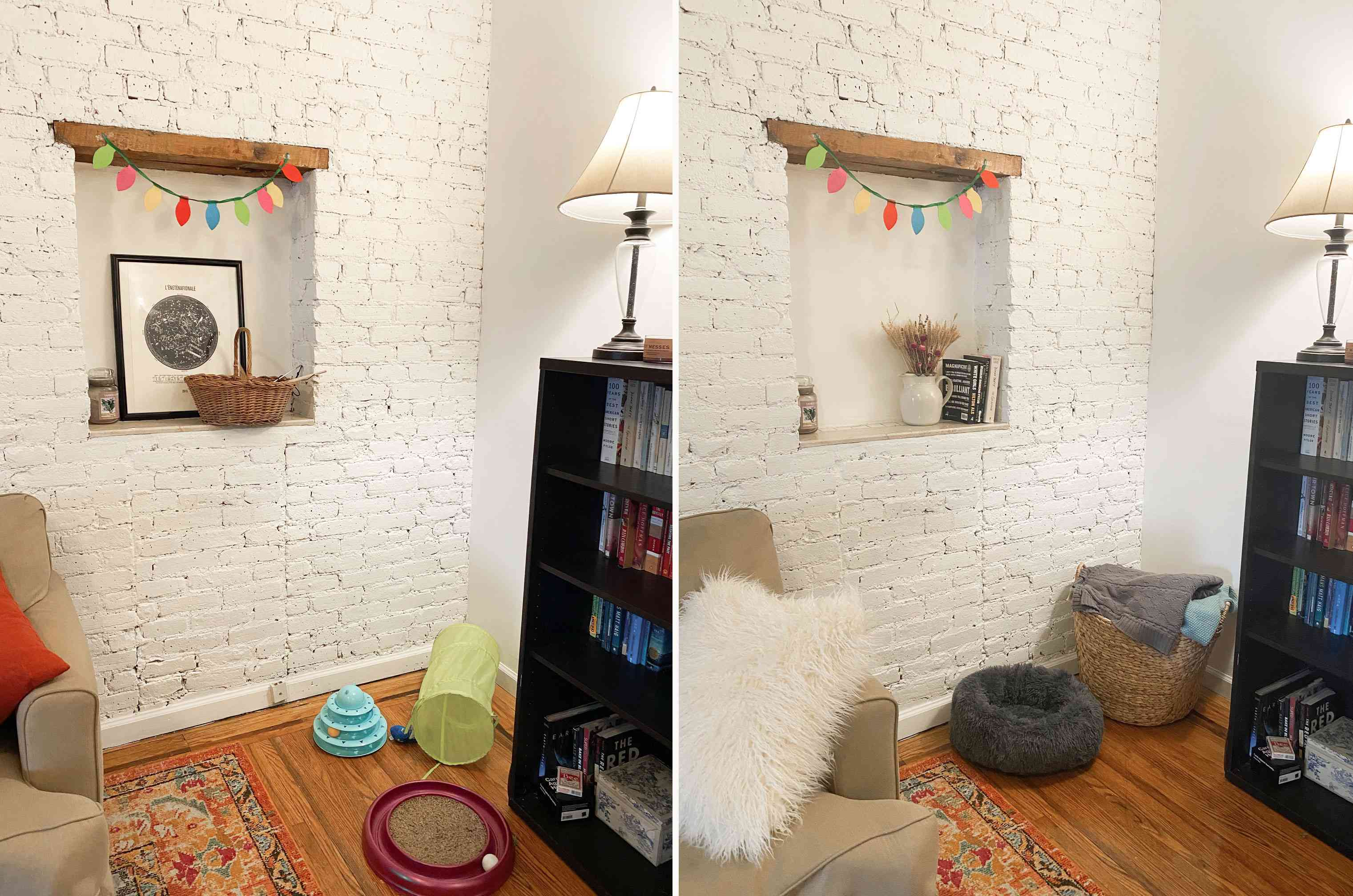 Before and after wall niche