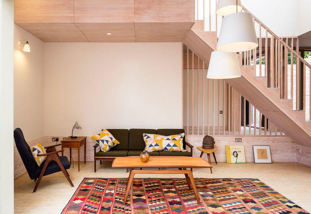 Dark furniture with Scandinavian rug