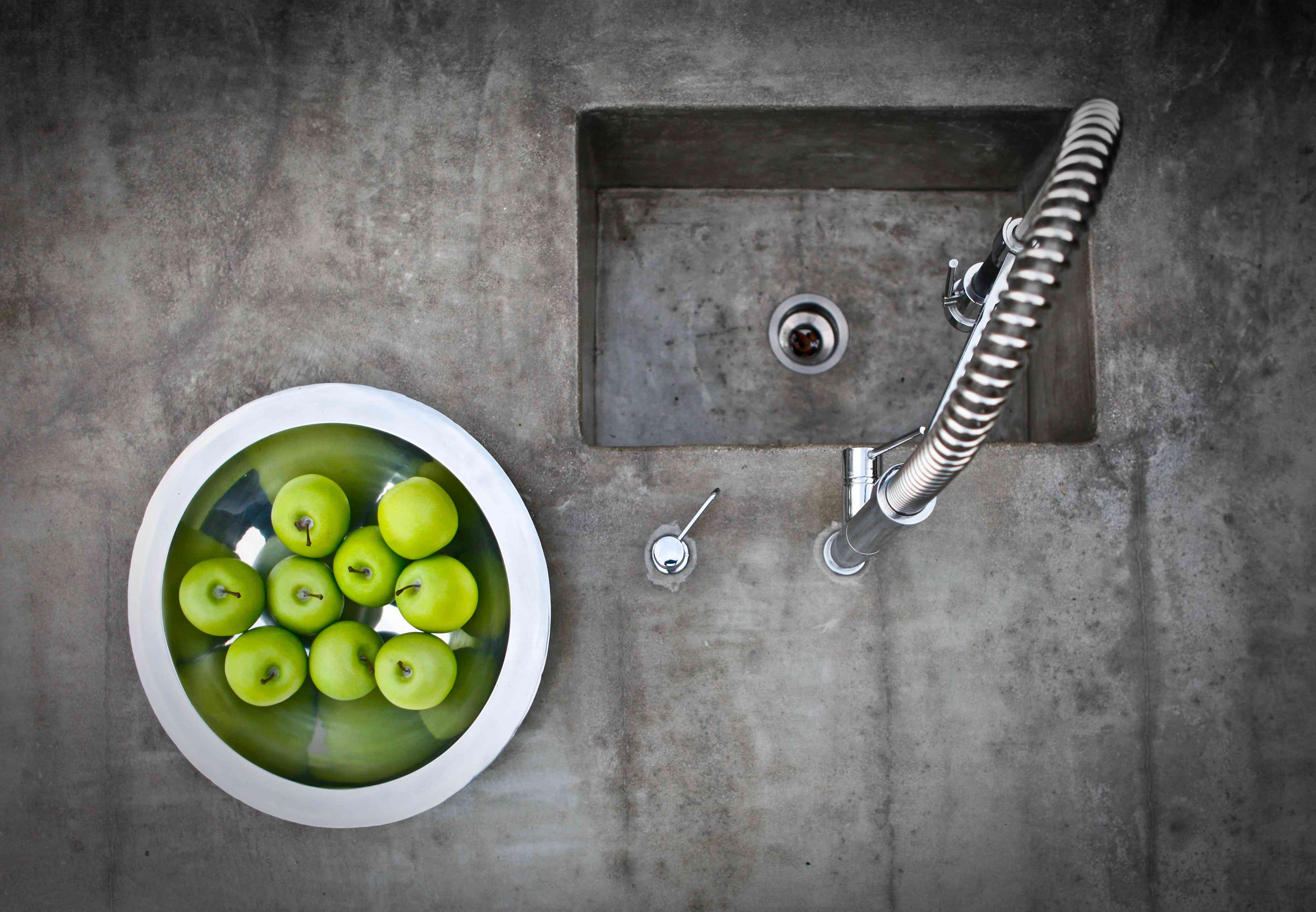 Modern concrete sink