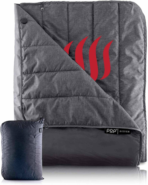 POP Design Portable USB Heated Throw Blanket