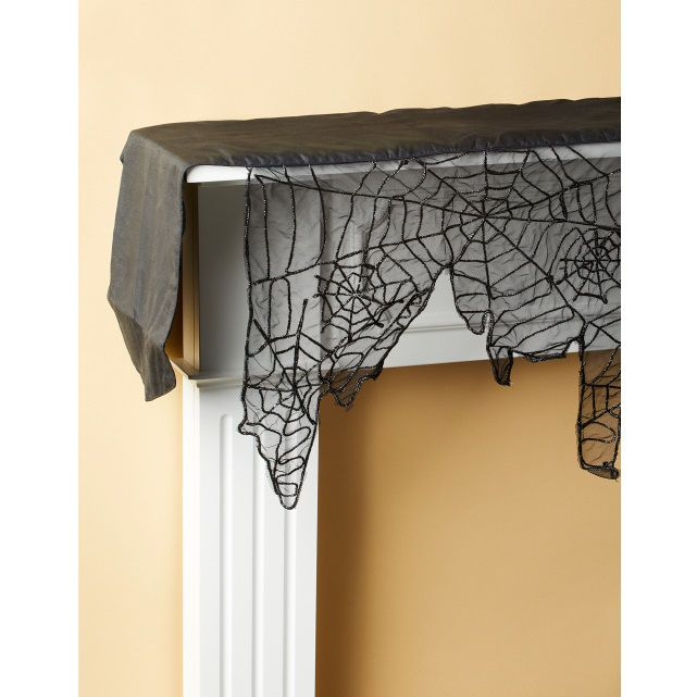 Tulle Spiderweb Mantle Scarf