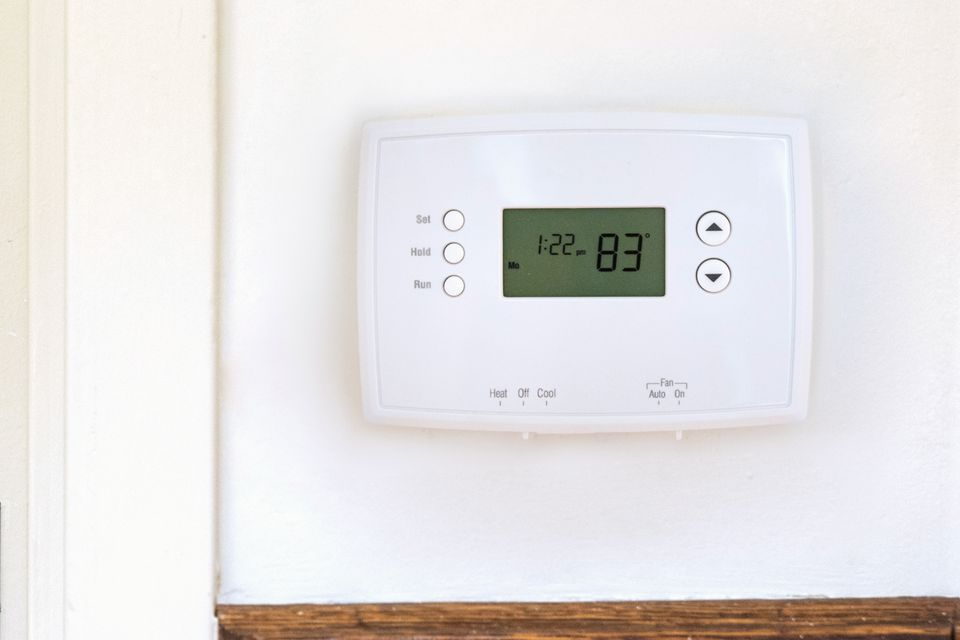 thermostat on a wall