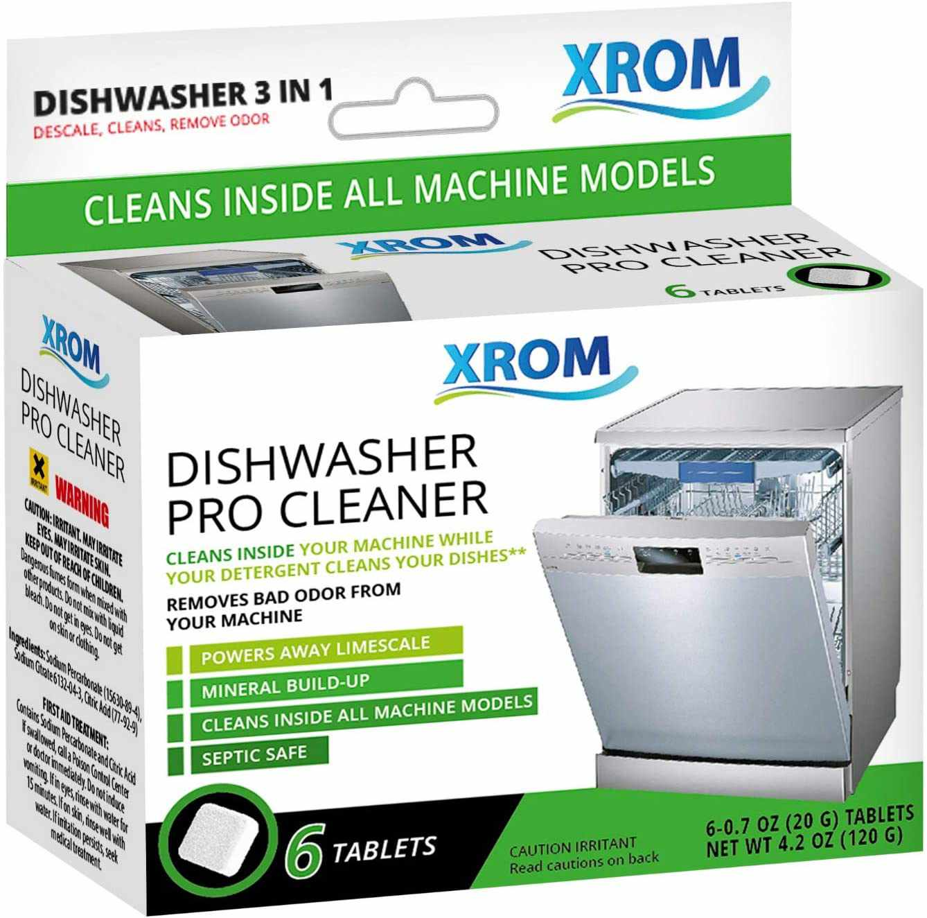 XROM High Efficiency Natural Dishwasher Cleaner