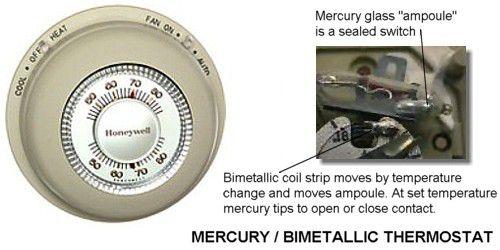 Mercury contact thermostat