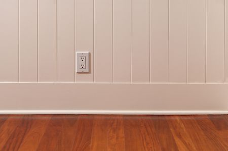 Quarter Round Installed On Baseboard 164003254