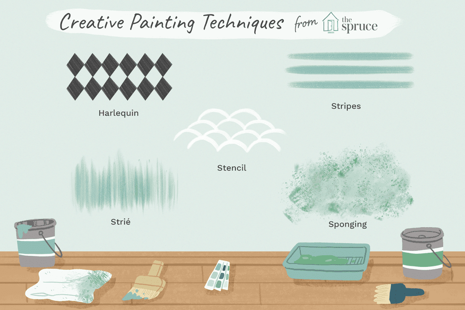 creative painting techniques illustration