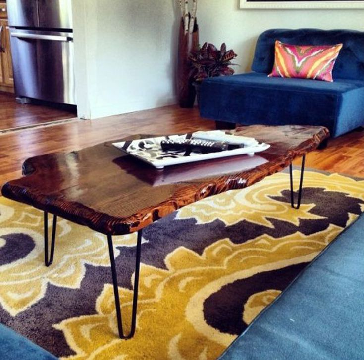 Diy Live Edge Coffee Table - How To Stain And Seal Coffee Table