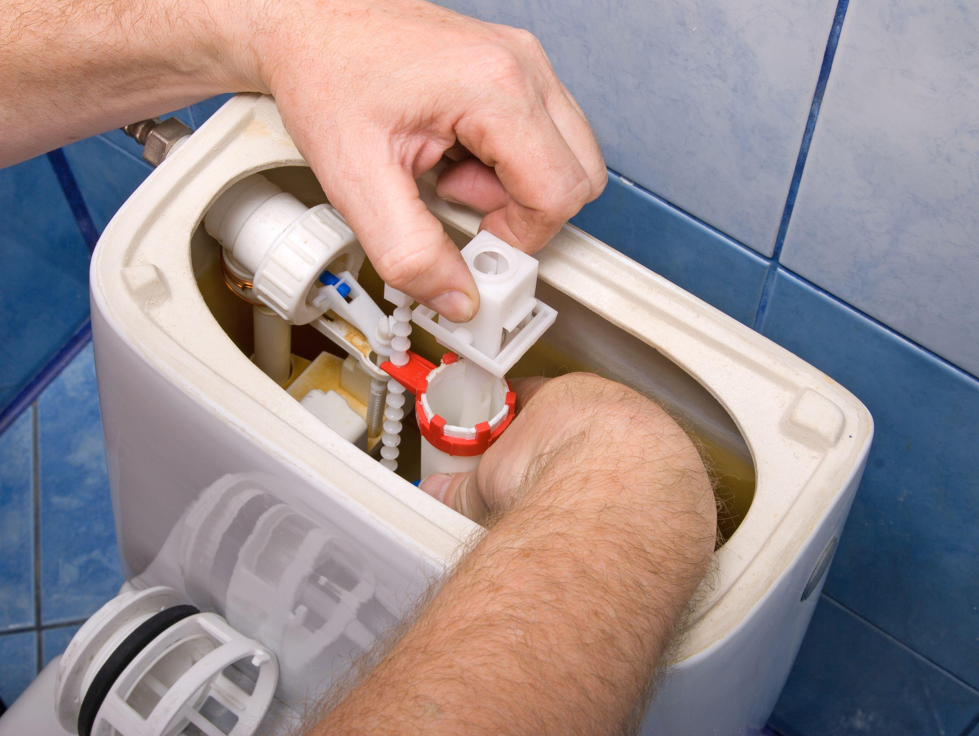 Repairing a Leaky Toilet Flush Drain Valve