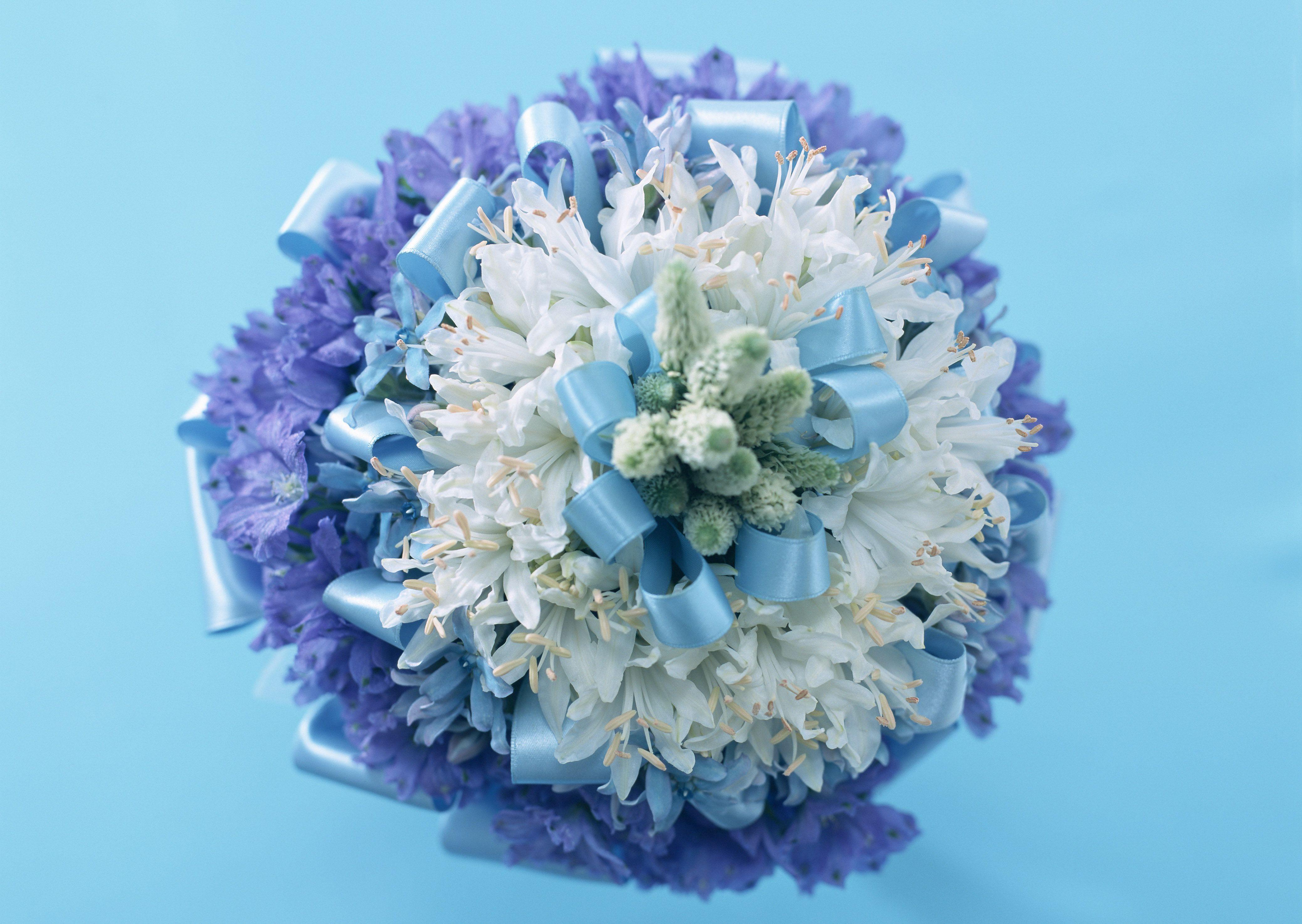 Blue Biedermeier Bouquet