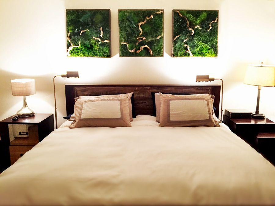Moss Wall Art in NYC Bedroom