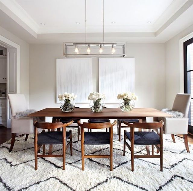 Modern Dining Room Rugs: 18 Gorgeous Modern Dining Rooms