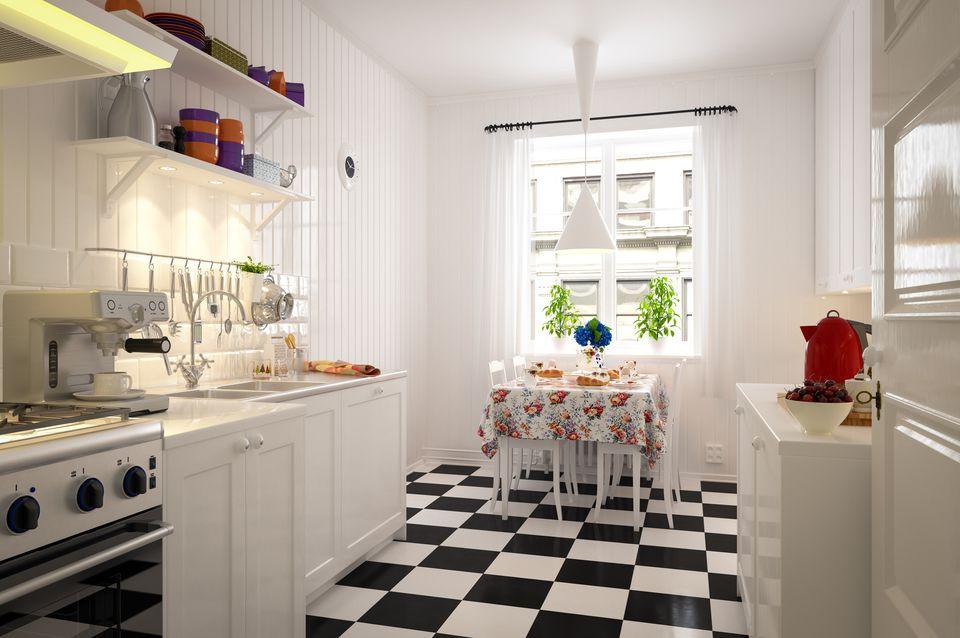 Interior de cocina doméstica
