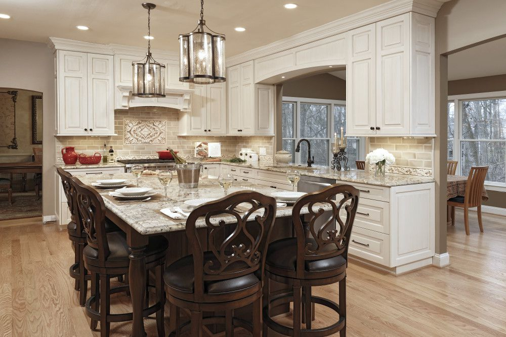 Granite counters and matching dining table