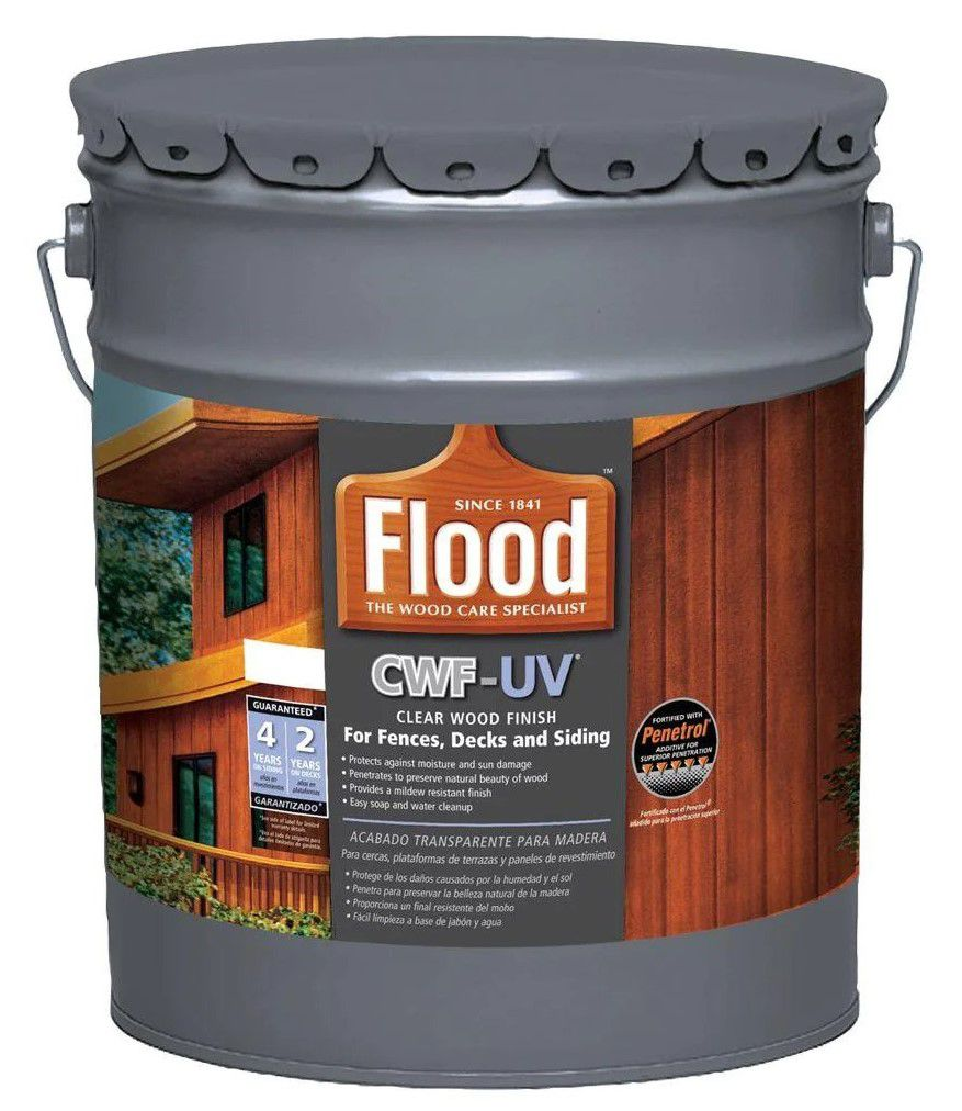 Flood Clear CWF-UV Exterior Wood Finish, 5 Gallon
