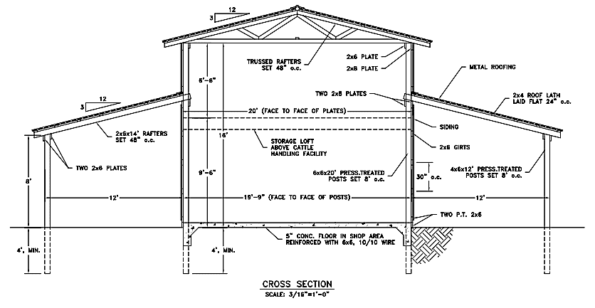 6 free barn plans for Pole barn plans pdf