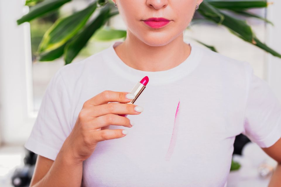 Clothing lipstick stain