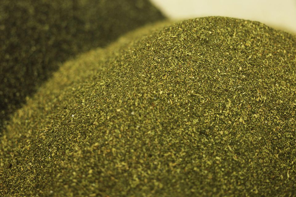 Closeup of a pile of greensand