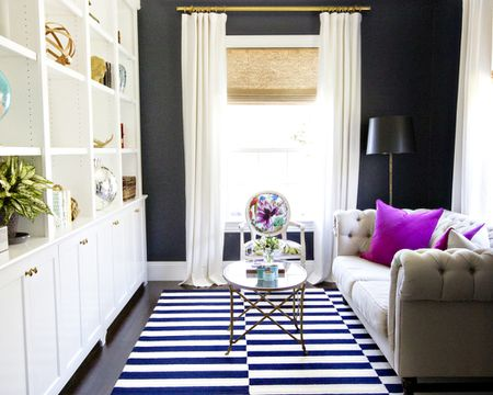 Black Walls Add Depth To Small Living Rooms Simple Room
