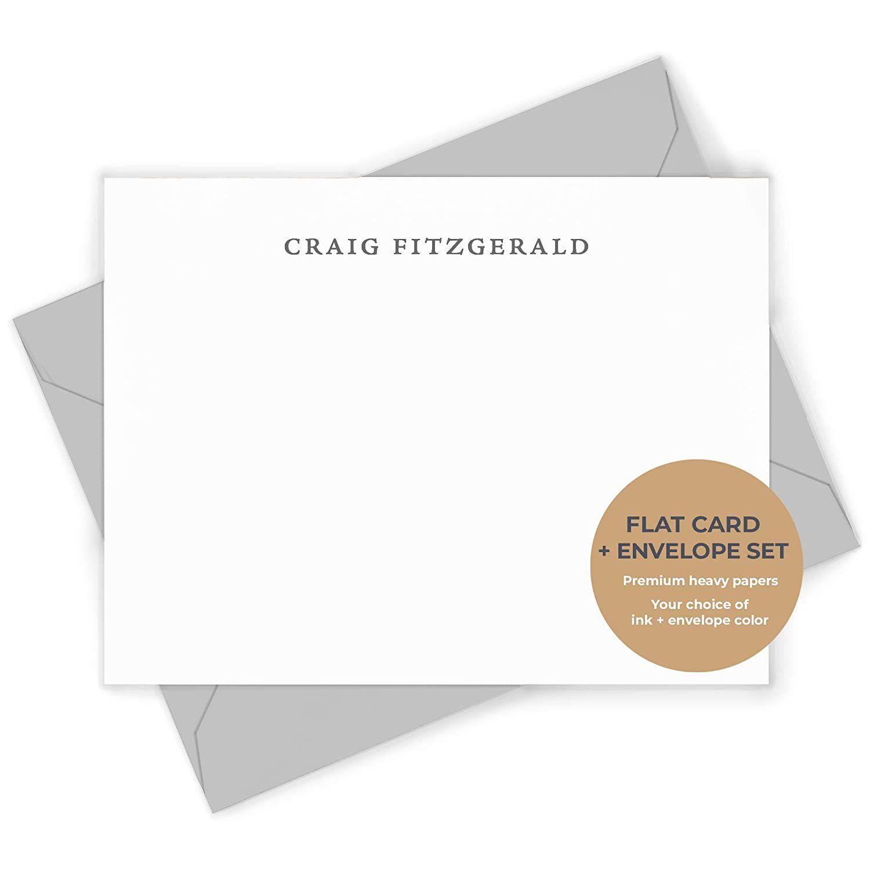 Simplicity Personalized Flat Stationery Set