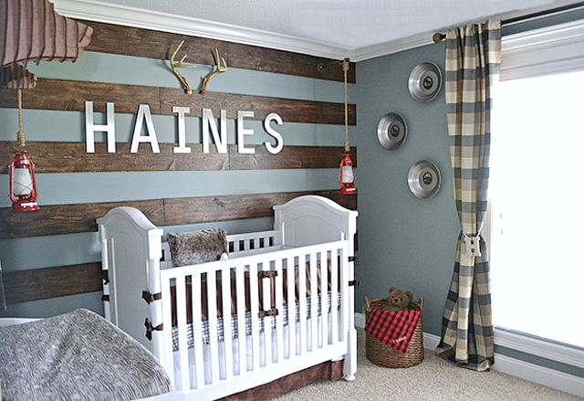 Rustic Alaskan-themed nursery