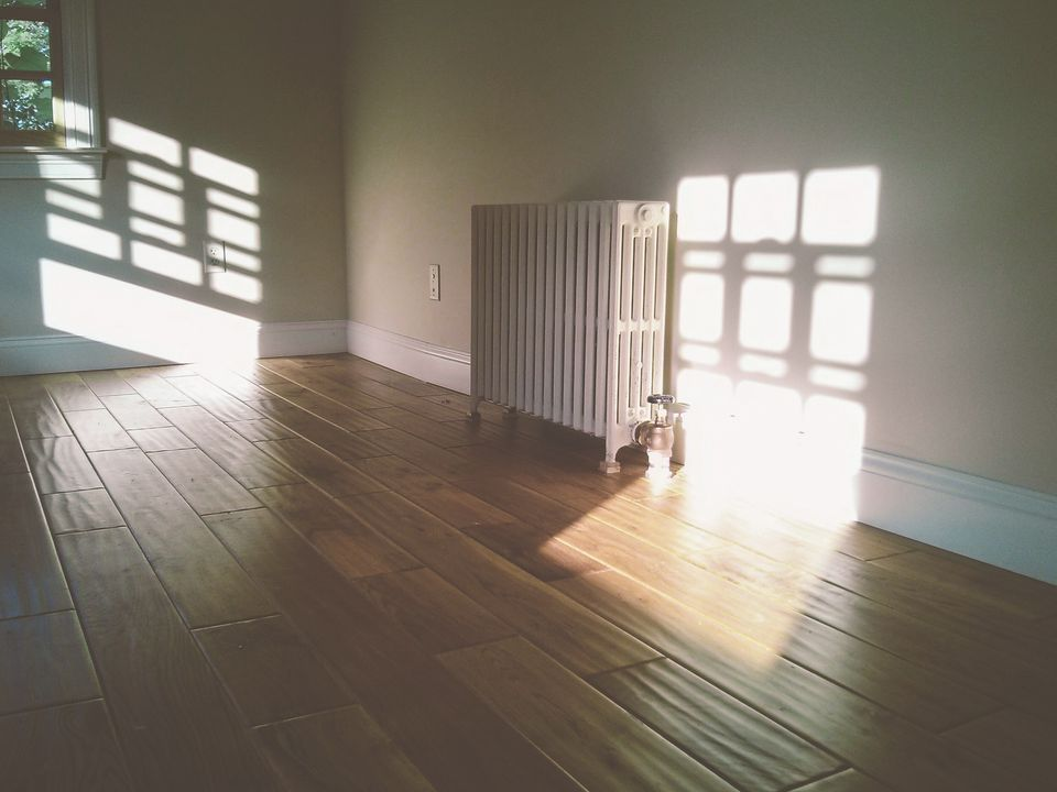 A radiator in an unfurnished room