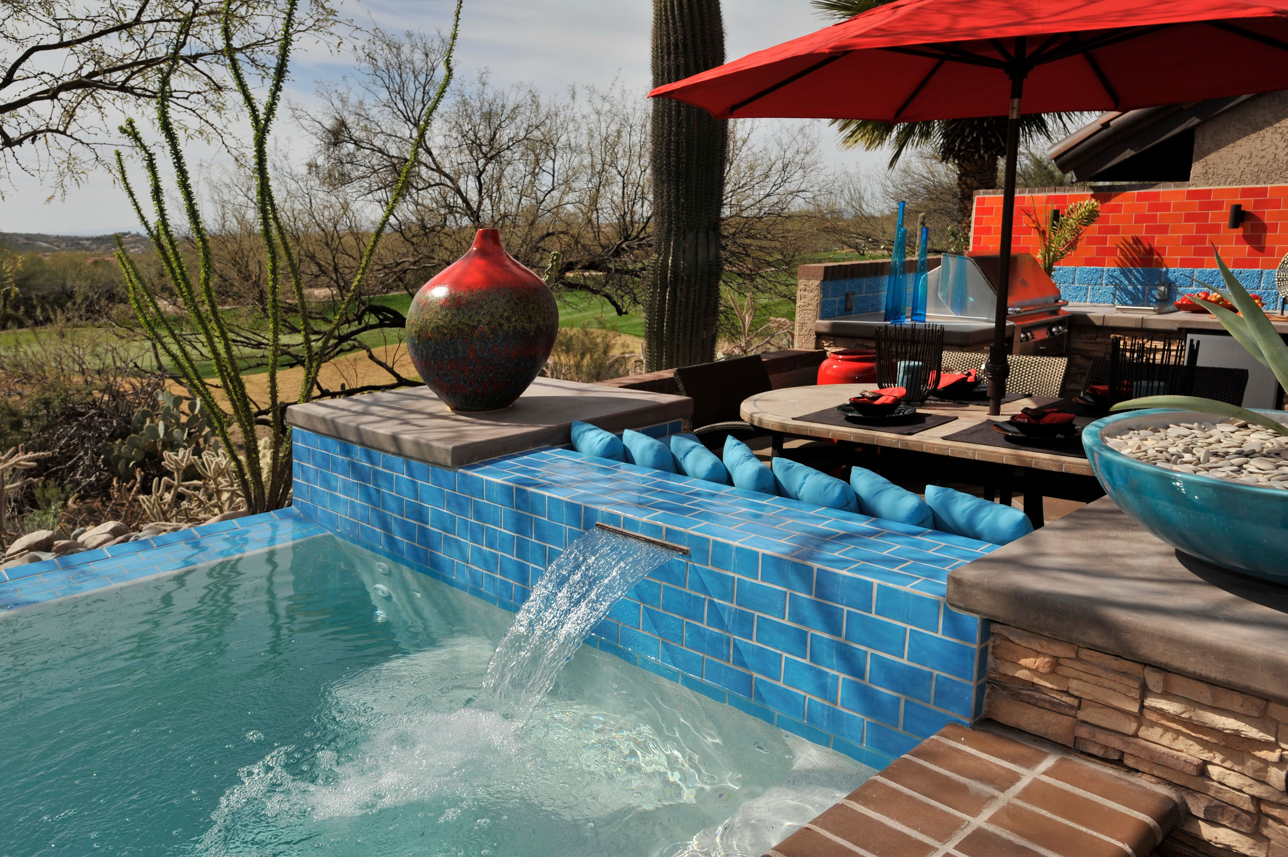 Spool water feature