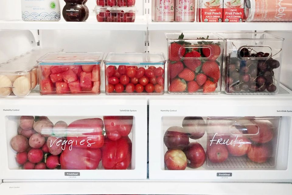 color-coded refrigerator