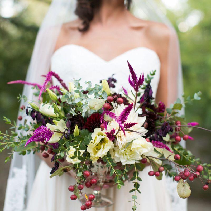 Berry Fall Wedding Centerpiece