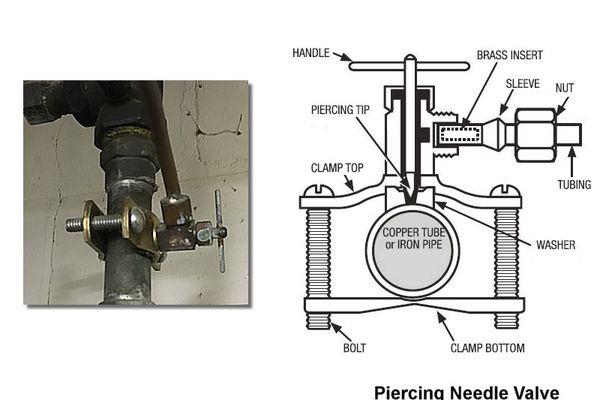 needle valve - saddle valve