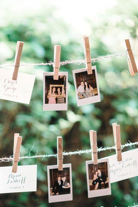 Tarjetas de acompañamiento de fotos Polaroid