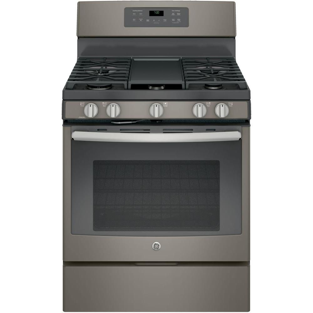 Gas Range With Self Cleaning Convection Oven In Slate