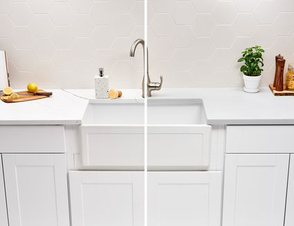 Solid surface and quartz countertop
