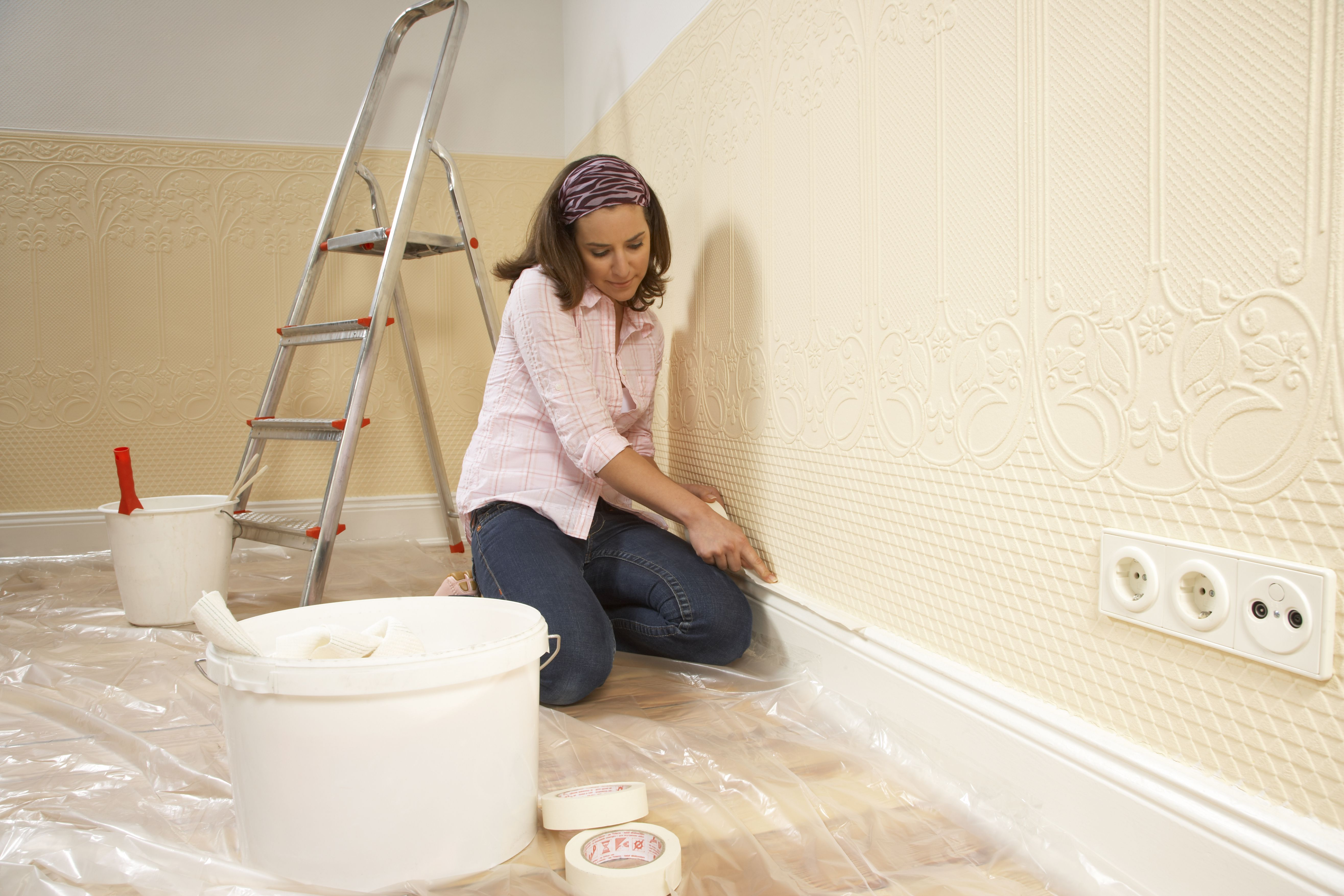 Painting Trim of a House