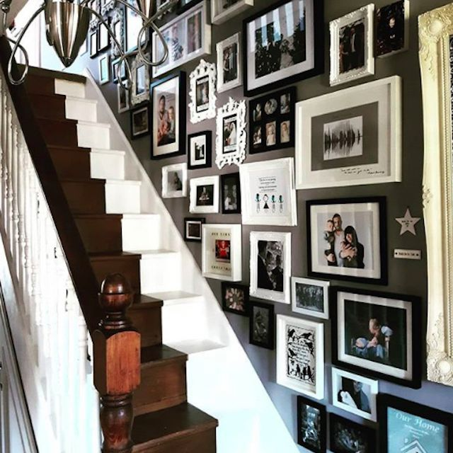 half white and half brown painted stairs