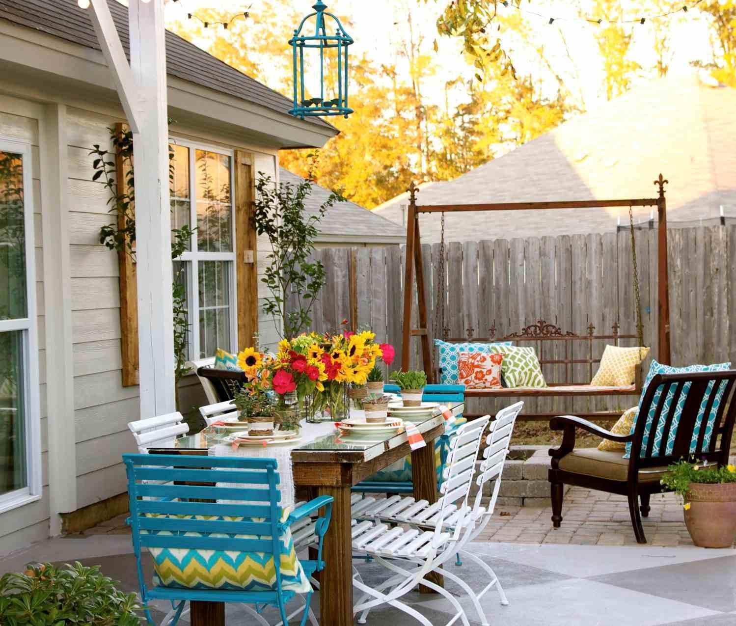 Colorful Backyard Patio
