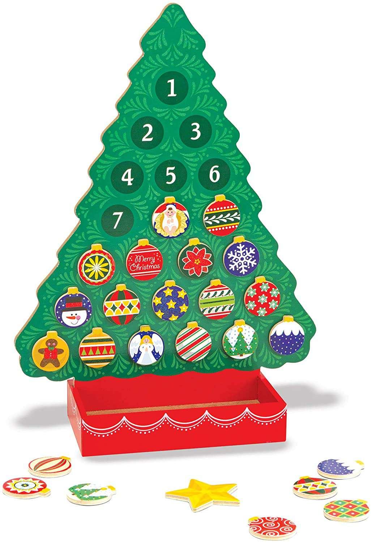 Melissa & Doug Countdown to Christmas Wooden Advent Calendar