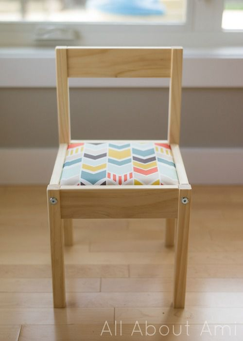 Ikea Latt chair with a DIY upholstery upgrade