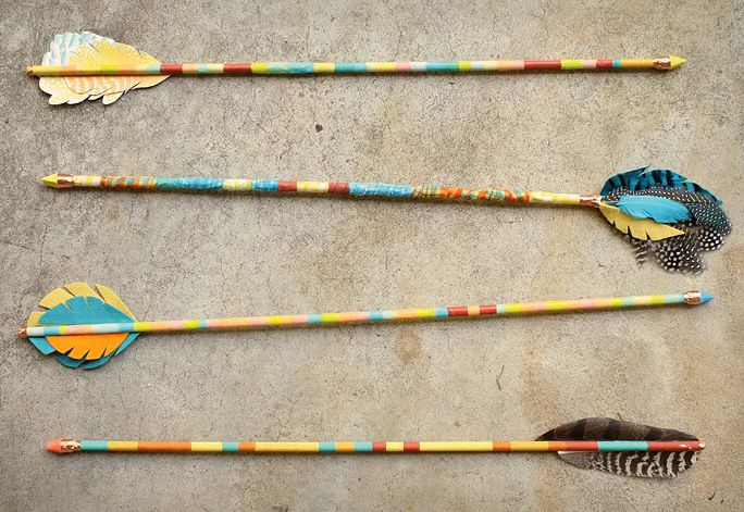 DIY Tribal Wall Art Arrows