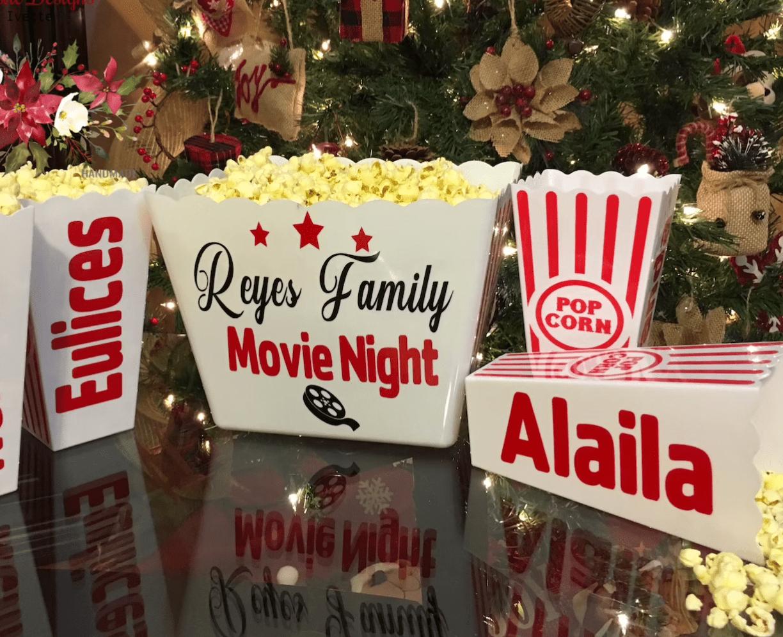 Etsy Personalized Popcorn Set