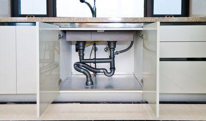 Storage under kitchen sink