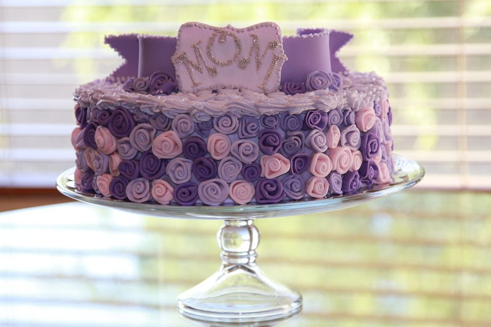 Purple party cake.