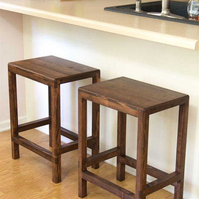 Dos barras taburetes en una cocina