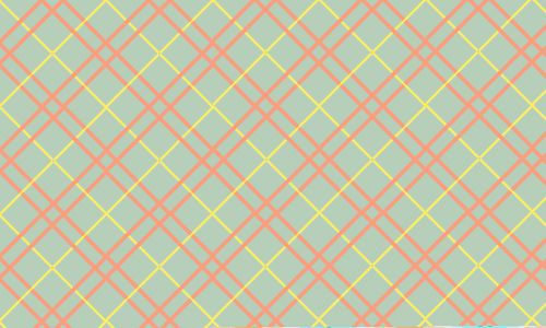 Plaid pattern with green background