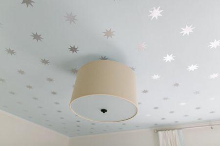 Diy Painted Stars On Ceilings In Nursey